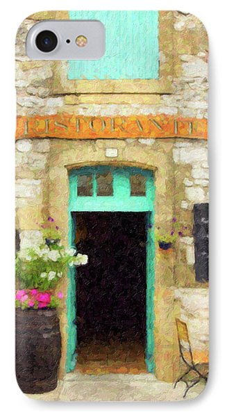 Italian Cafe IPhone Case by Rob Tullis