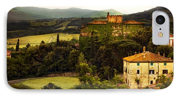 Italian Castle And Landscape IPhone Case by Marilyn Hunt
