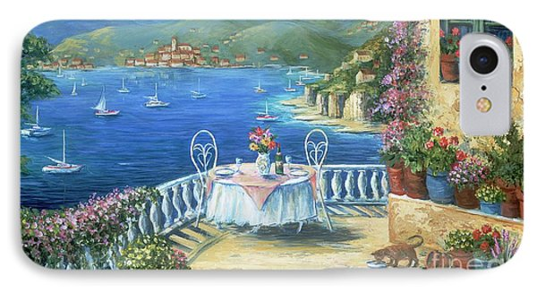 Italian Lunch On The Terrace Phone Case by Marilyn Dunlap