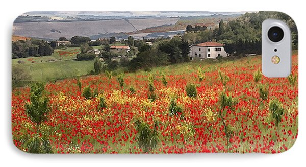 Italian Poppy Field IPhone Case