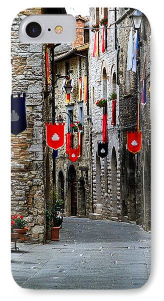Italian Street Flags IPhone Case by Roger Mullenhour