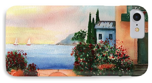 Italian Sunset Villa By The Sea Phone Case by Sharon Mick