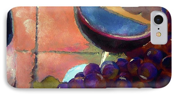 Italian Tile And Fine Wine IPhone Case by Lisa Kaiser