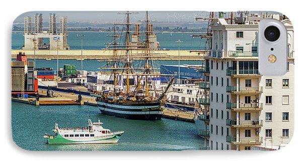 IPhone Case featuring the photograph Italian Training Ship Amerigo Vespucci Cadiz Spain by Pablo Avanzini