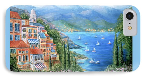 Italian Village By The Sea Phone Case by Marilyn Dunlap