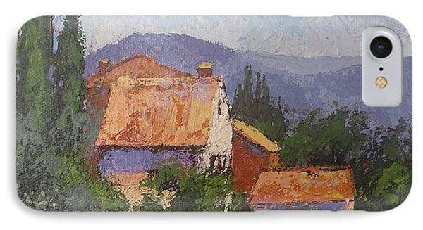 IPhone Case featuring the painting Italian Village by Chris Hobel
