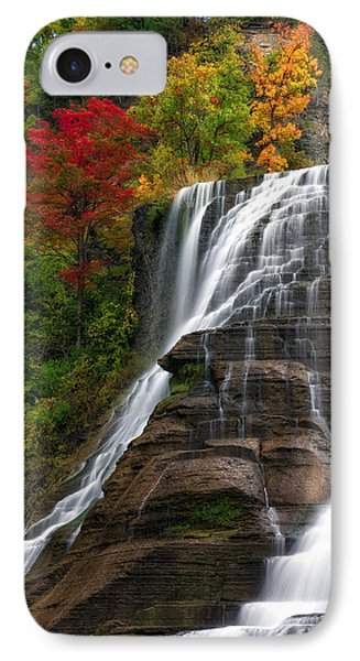 Ithaca Falls IPhone Case by Mark Papke