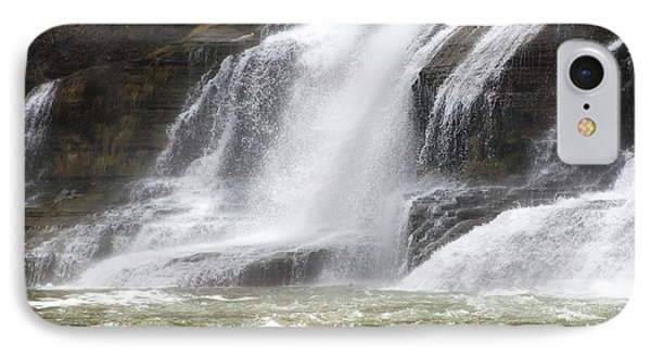 Ithaca Falls On Fall Creek - Mountain Showers Phone Case by Christina Rollo