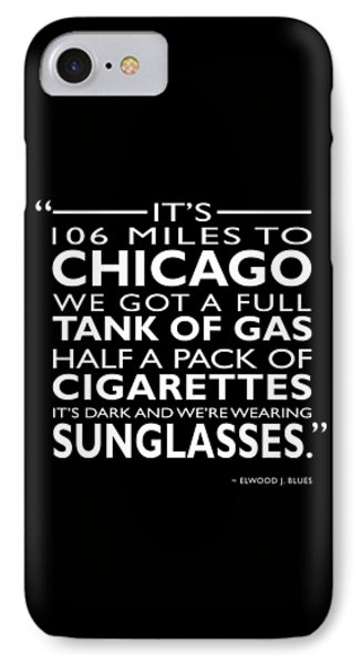 Its 106 Miles To Chicago IPhone Case by Mark Rogan