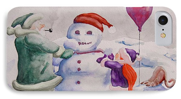 It's Cold Grandpa IPhone Case by Geni Gorani