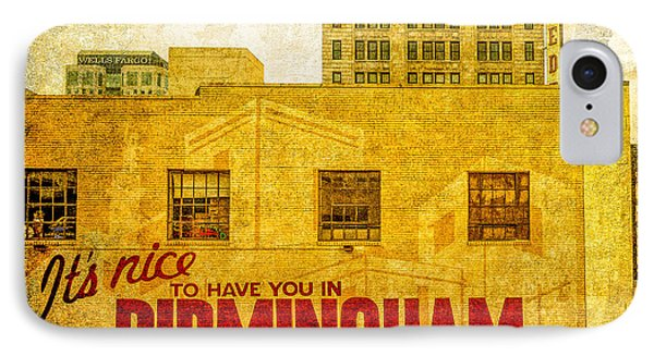 It's Nice To Have You In  To Birmingham Phone Case by Phillip Burrow