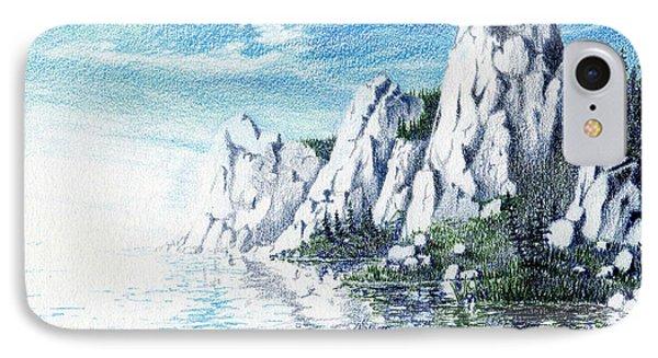 Ivory Cliffs Phone Case by Nils Bifano