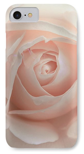 Ivory Peach Pastel Rose Flower Phone Case by Jennie Marie Schell