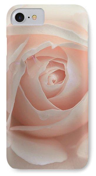 Ivory Peach Pastel Rose Flower IPhone Case by Jennie Marie Schell