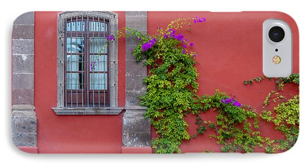 Ivy On Red Wall With Window IPhone Case by Douglas J Fisher