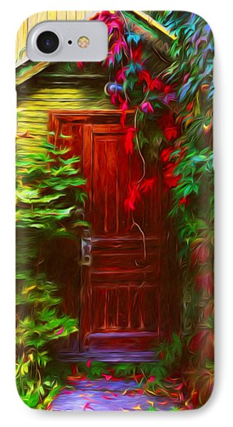 Ivy Surrounded Old Outhouse IPhone Case by Georgiana Romanovna