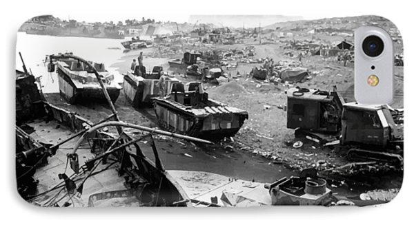 Iwo Jima Beach Phone Case by War Is Hell Store