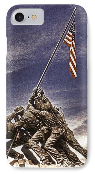 Iwo Jima Flag Raising Phone Case by Dennis Cox