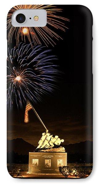 Iwo Jima Flag Raising IPhone Case by Michael Peychich