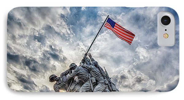 Iwo Jima Memorial IPhone Case by Susan Candelario