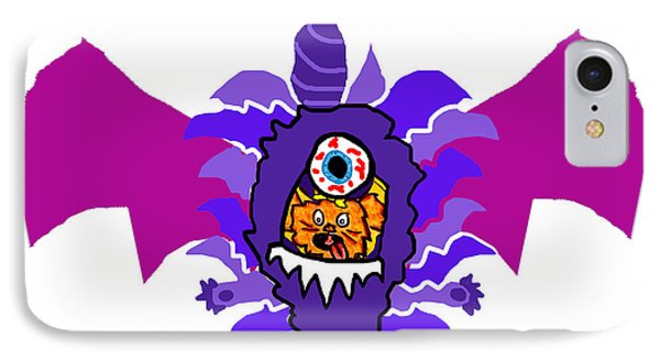 Izzy Purple People Eater Costume IPhone Case