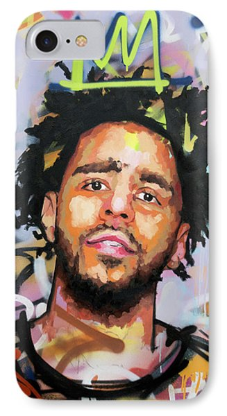 J Cole IPhone 7 Case by Richard Day