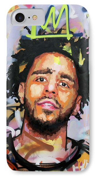 J Cole IPhone Case by Richard Day