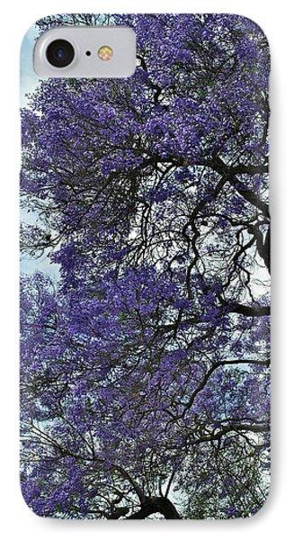Jacaranda Clouds Phone Case by Gwyn Newcombe
