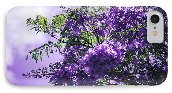 IPhone Case featuring the photograph Jacaranda Mimosifolia Kula Maui Hawaii by Sharon Mau