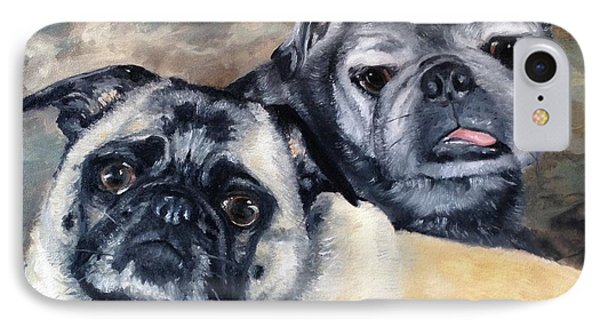 Jack And Bella IPhone Case by Diane Daigle
