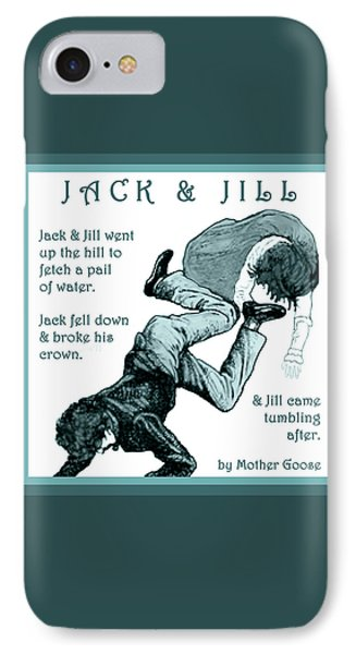 Jack And Jill Vintage Mother Goose Nursery Rhyme IPhone Case
