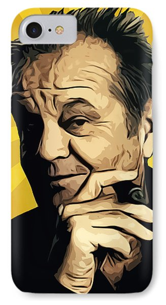 Jack Nicholson 3 IPhone Case by Semih Yurdabak