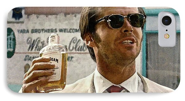 Jack Nicholson, Here's To First Of The Day Fellas, And To Ol D. H. Lawrence . ' IPhone Case by Thomas Pollart