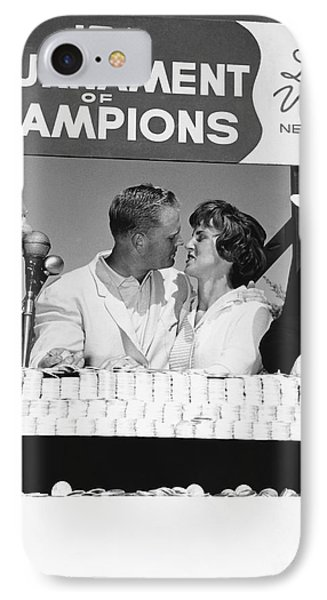 Jack Nicklaus And Wife IPhone Case by Underwood Archives