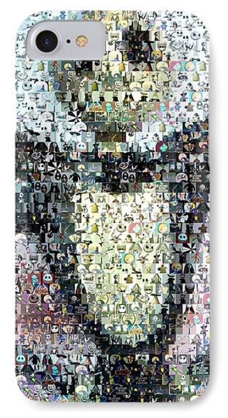 Jack Skellington Mosaic IPhone Case by Paul Van Scott