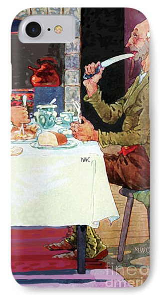 IPhone Case featuring the painting Jack Sprat Vintage Mother Goose Nursery Rhyme by Marian Cates