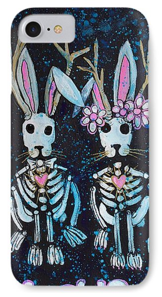 IPhone Case featuring the painting Jackalope Love by Laurie Maves ART