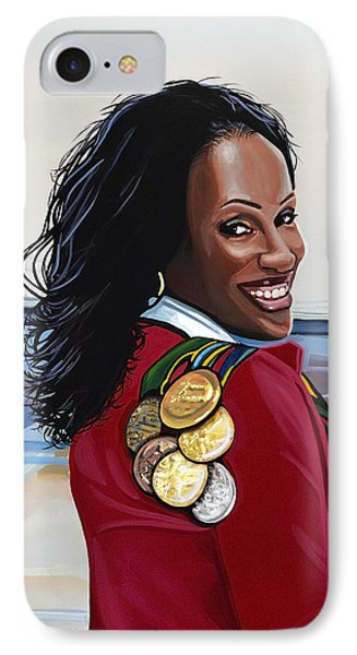 Jackie Joyner Kersee IPhone Case by Paul Meijering