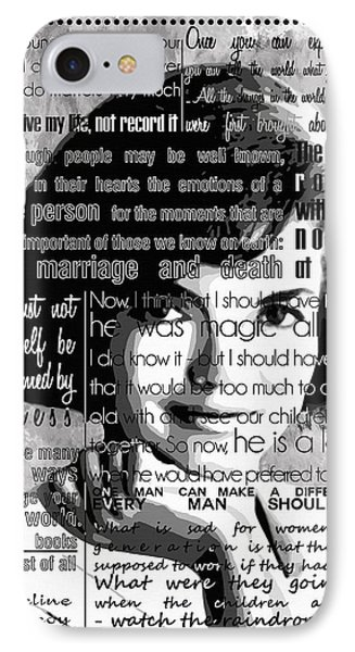 Jackie Kennedy Motivational Inspirational Independent Quotes IPhone Case by Diana Van