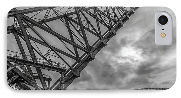 Jackknife Bridge To The Clouds B And W IPhone Case
