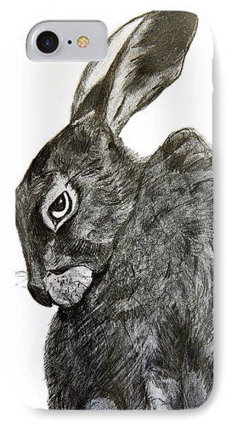 IPhone Case featuring the drawing Jackrabbit Jock by Linde Townsend