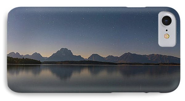 Jackson Lake Moon IPhone Case by Darren White