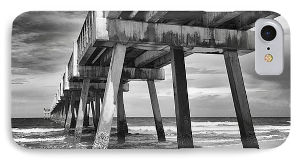 Jacksonville Beach Florida Usa Pier IPhone Case by Vizual Studio
