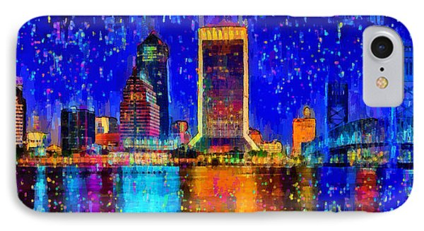 Jacksonville Skyline 100 - Da IPhone Case by Leonardo Digenio