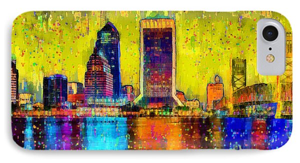Jacksonville Skyline 101 - Da IPhone Case by Leonardo Digenio