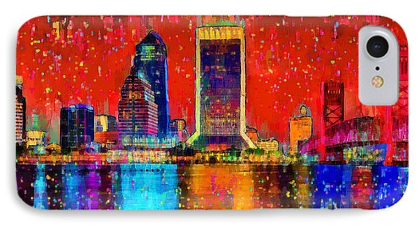 Jacksonville Skyline 103 - Da IPhone Case by Leonardo Digenio