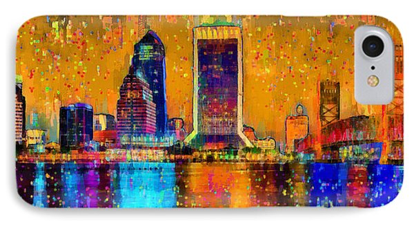 Jacksonville Skyline 104 - Pa IPhone Case by Leonardo Digenio