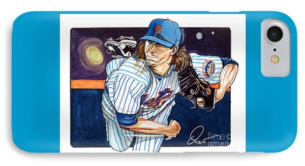 Jacob Degrom Of The New York Mets IPhone Case by Dave Olsen