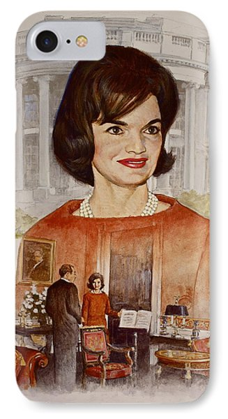 Jacqueline Kennedy Onassis  IPhone Case by Cliff Spohn