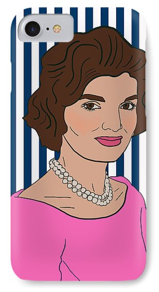 Jacqueline Kennedy Onassis IPhone Case by Nicole Wilson